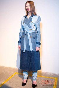 Пальто из денима мода 2018-2019 года