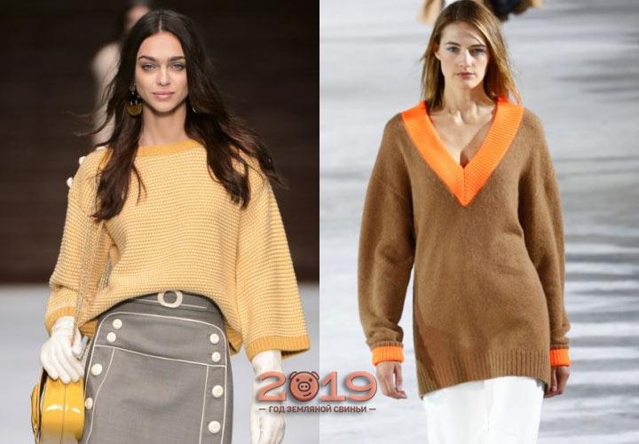 Широкий свитер зима 2018-2019