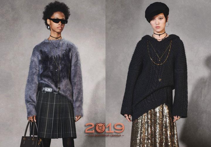 Серый свитер зима 2018-2019