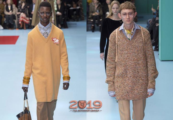 Удлиненный свитер зима 2018-2019