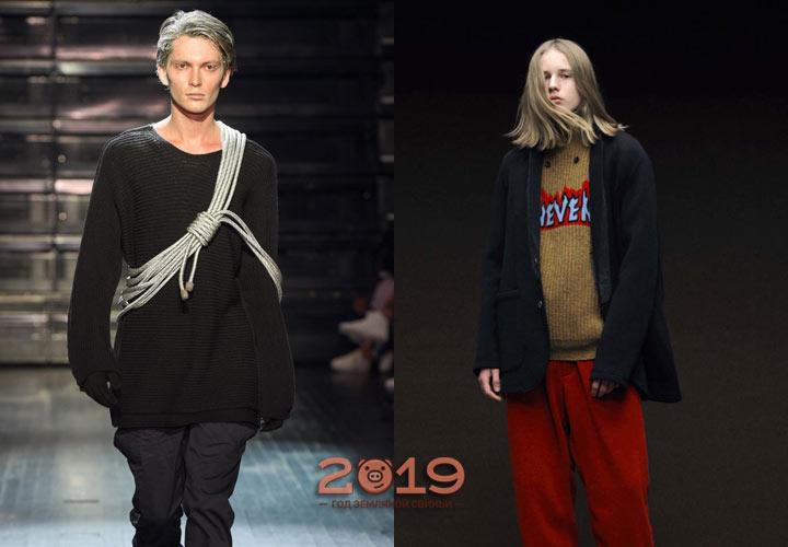 Модели мужских свитеров на 2019 год