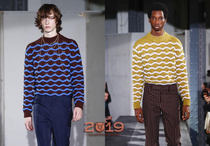 Мужские модели свитеров зима 2018-2019