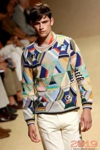 Ретро свитер для мужчины