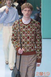 Мужской свитер от Гучи в ретро стиле