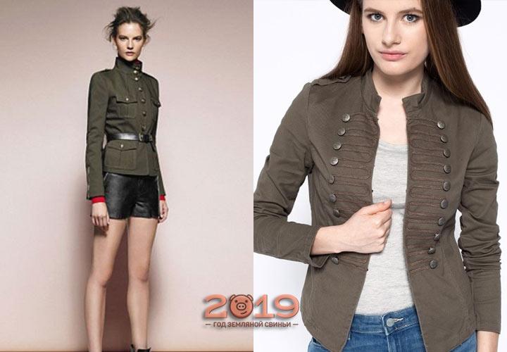 Модный милитари пиджак