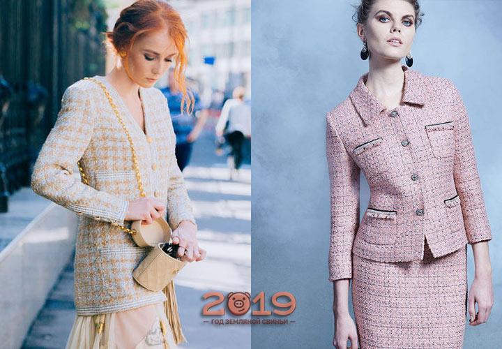 Твидовый пиджак 2018-2019 года