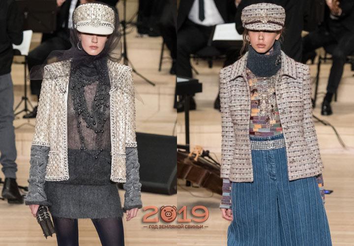 Твидовые пиджаки Шанель осень-зима 2018-2019