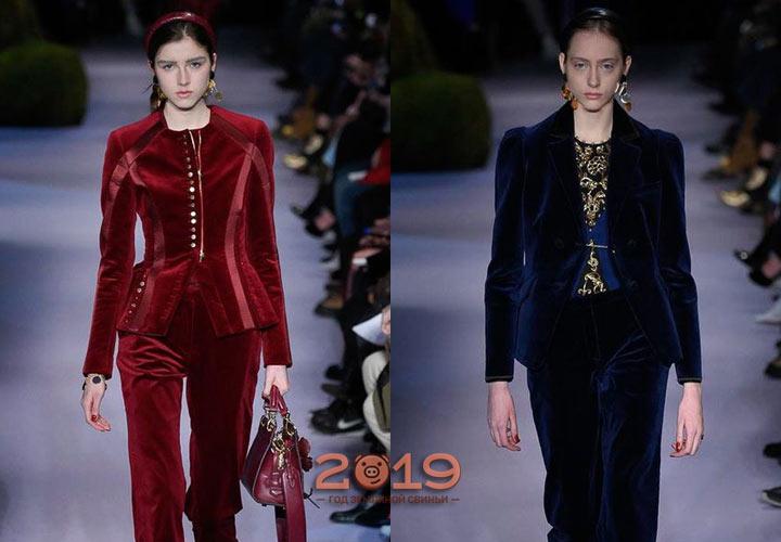 Бархатный пиджак 2018-2019 года