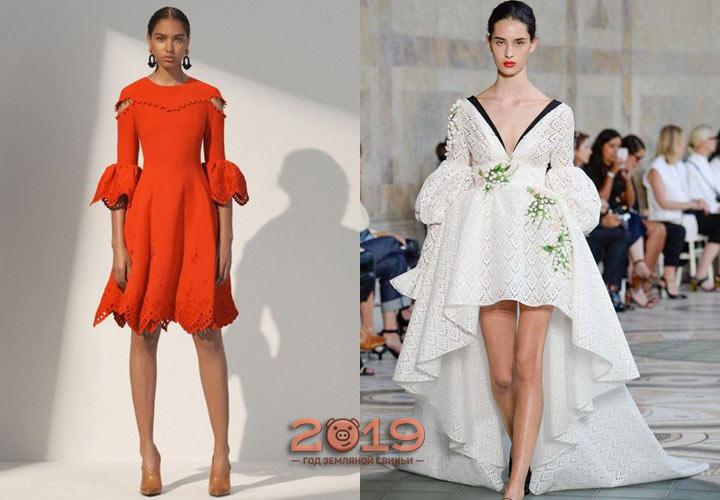 Модное трикотажное платье 2019