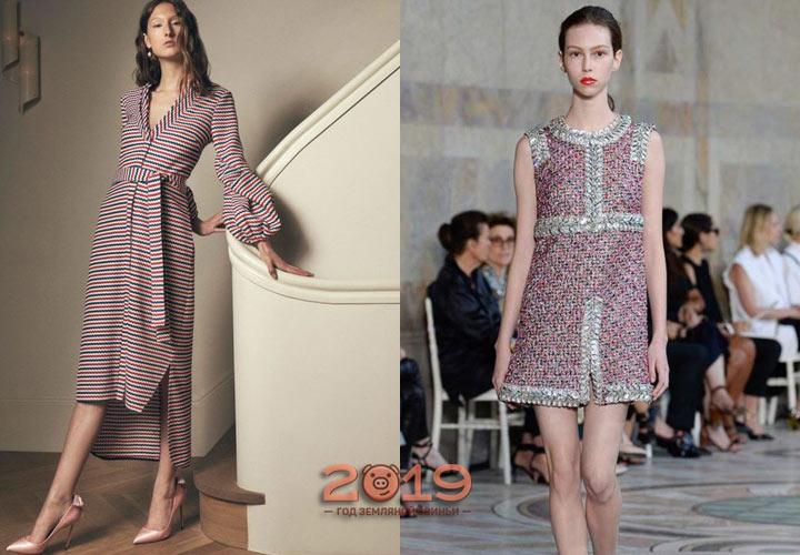 Платье трикотажное сезона осень-зима 2018-2019