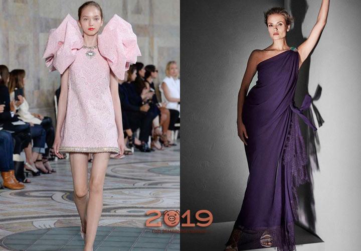 Платье из трикотажной ткани зима 2019