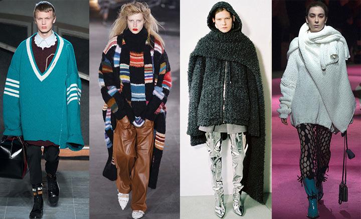Свитера оверсайз мода 2018-2019 года
