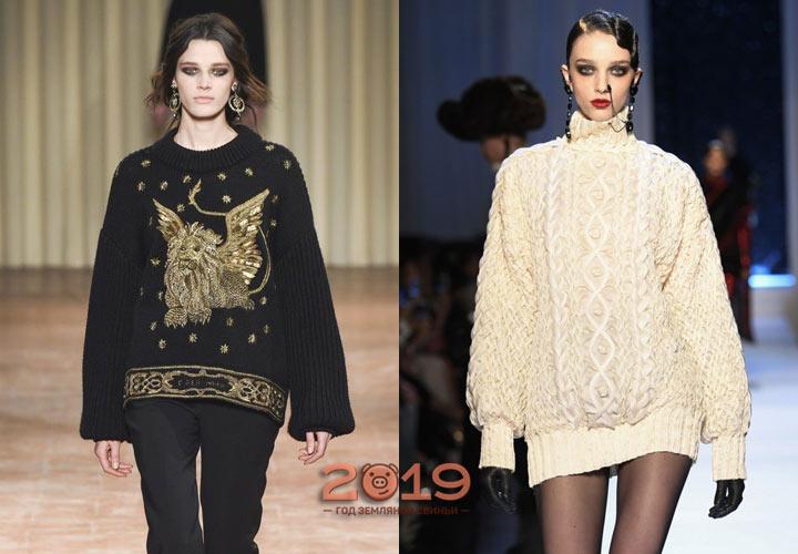 модные модели свитеров 2018-2019 года