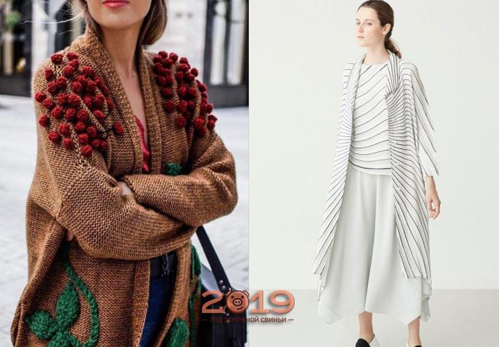 Модные кардиганы 2018-2019 года
