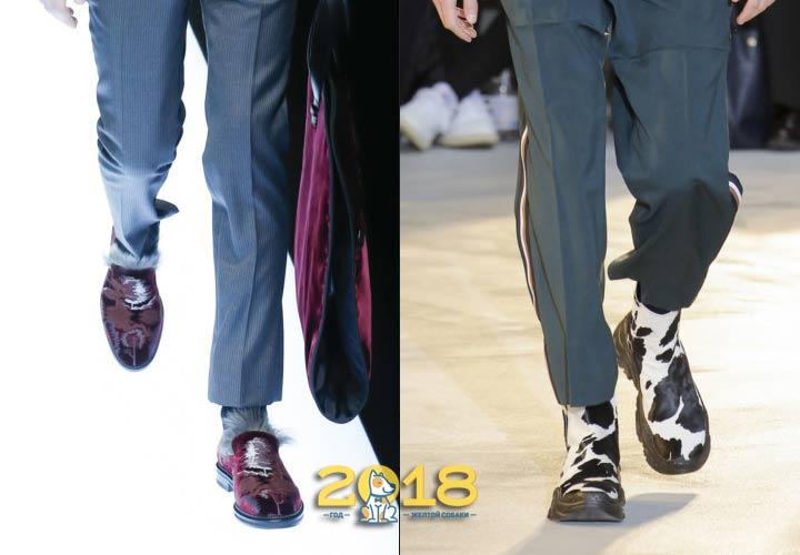 Цветная мужская обувь осень-зима 2018-2019