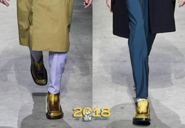 Золотая обувь для мужчин зима 2018-2019