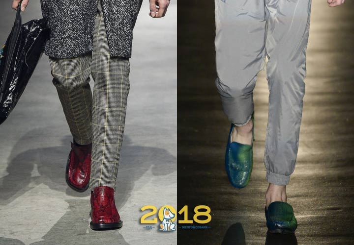 Яркие цвета мужской обуви зима 2019