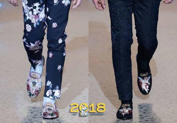 Мужские туфли с вышивкой