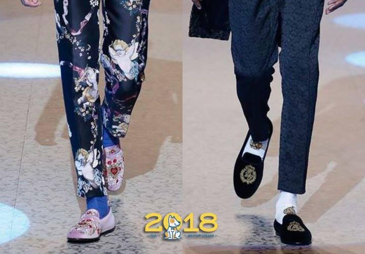 Вышитые мужские туфли