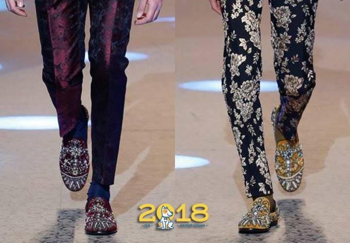 Туфли мужские с вышивкой