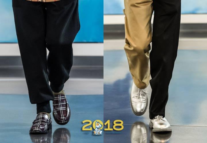 Цветные мужские туфли 2018-2019 год
