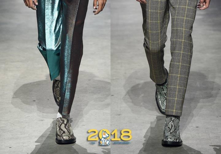 Мужская обувь из кожи рептилий осень-зима 2018-2019