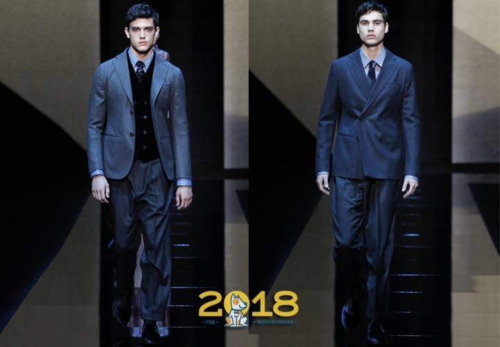 Классический мужской костюм осень-зима 2018-2019