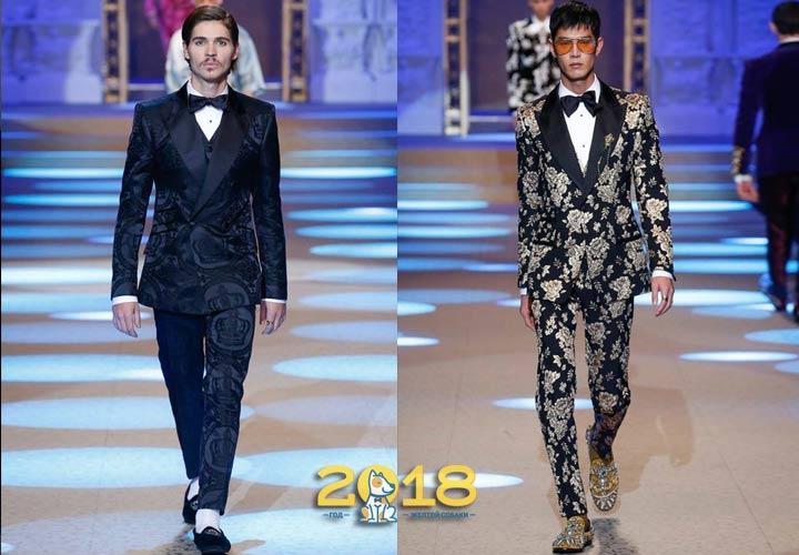 Модный мужской костюм осень-зима 2018-2019