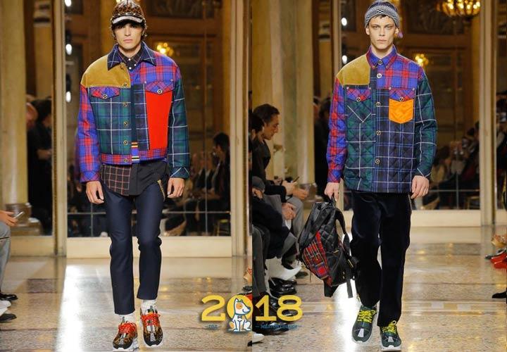 Модная клетка в мужской моде