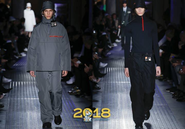 Спортивная стилистика в мужском образе зима 2018-2019