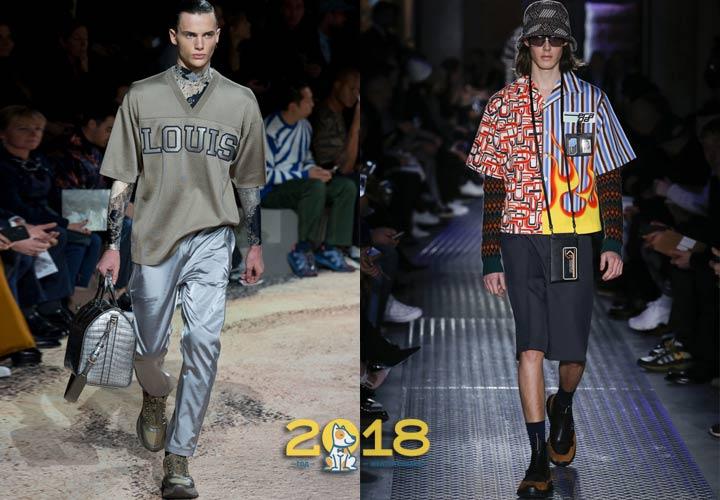 Многослойность в мужской моде осень-зима 2018-2019