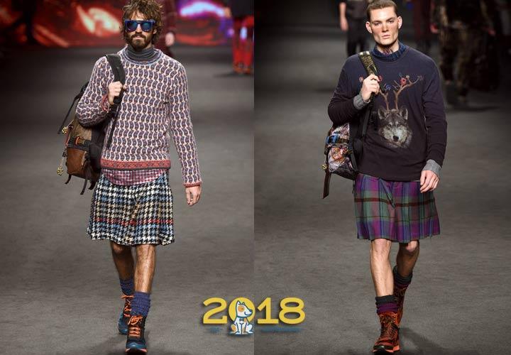 Мужские юбки 2018-2019 года