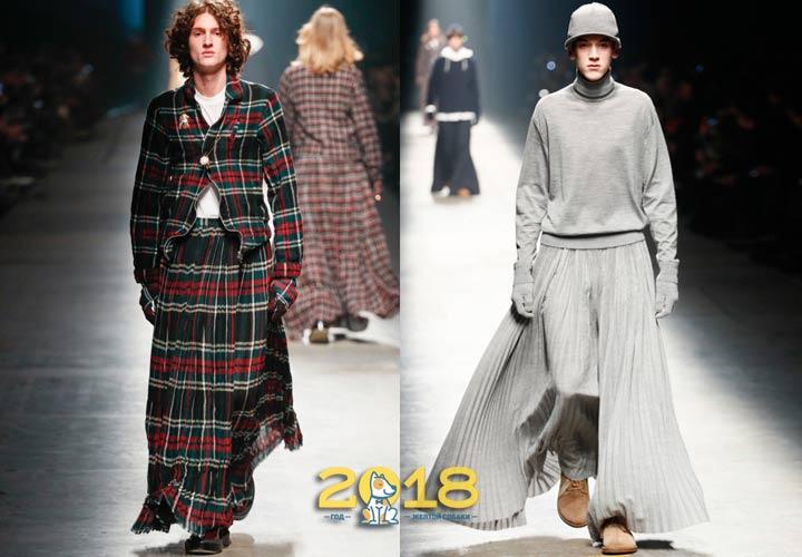 Юбки в мужской моде 2018-2019 года