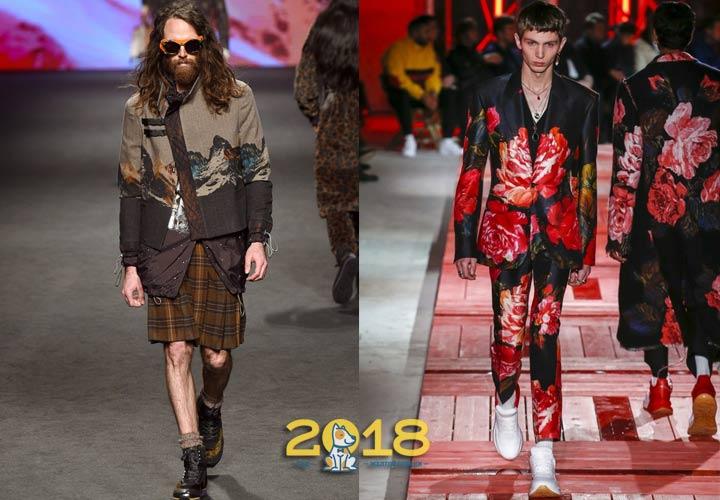 Эпатажная мужская мода 2018-2019 года