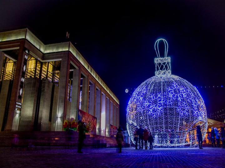 Новый год в центре Минска