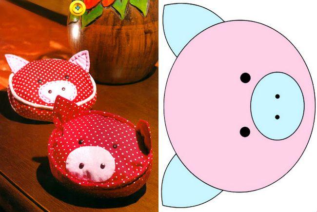 Игольница в виде свинки