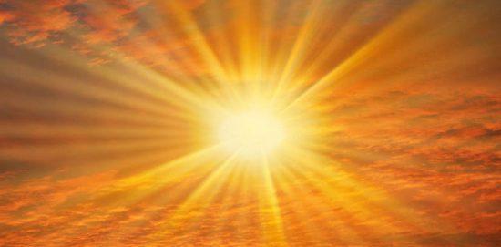 солнце над горизонтом