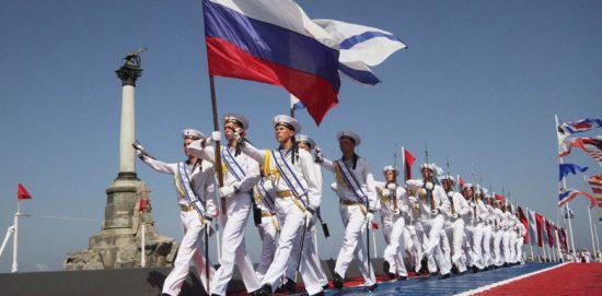 парад моряков