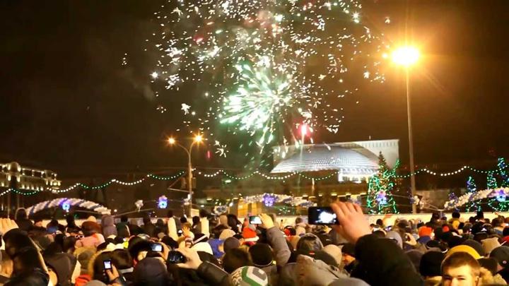 Массовые гулянья в Новосибирске