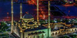 мечеть в вечернее время