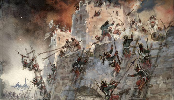 Взятие турецкой крепости Измаил