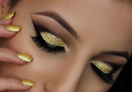 Золотой макияж на 2019 год