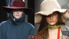2018-2019 moda geniş kenarlı şapkalar