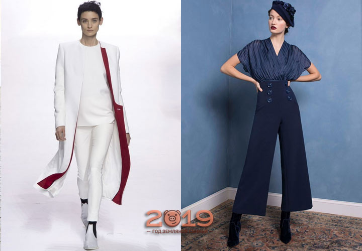 fashion trousers for the winter of 2018-2019