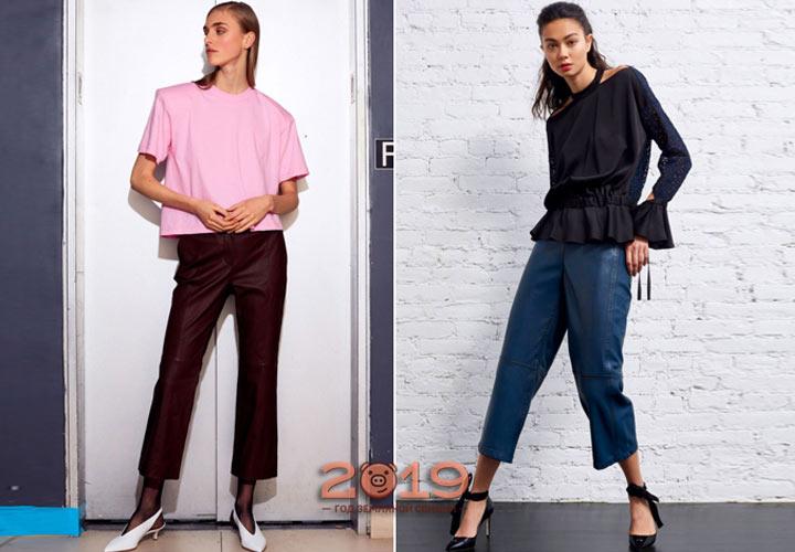 Широкие укороченные брюки на осень 2018 года