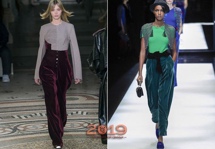 Бархатные брюки для женщин
