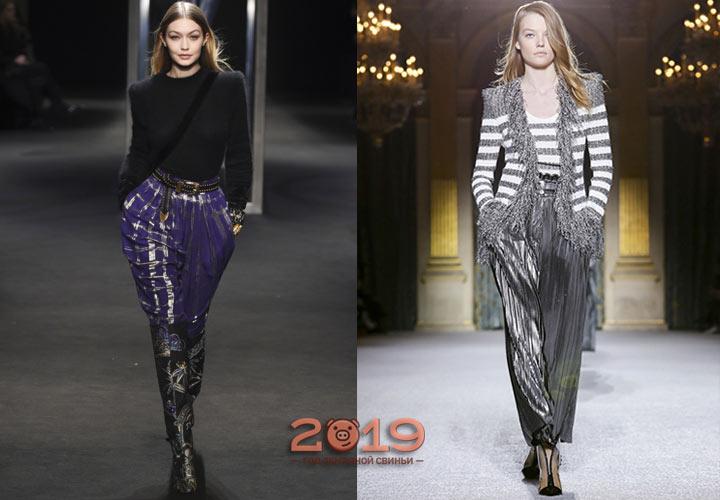 Красивые брюки на выход осень-зима 2018-2019