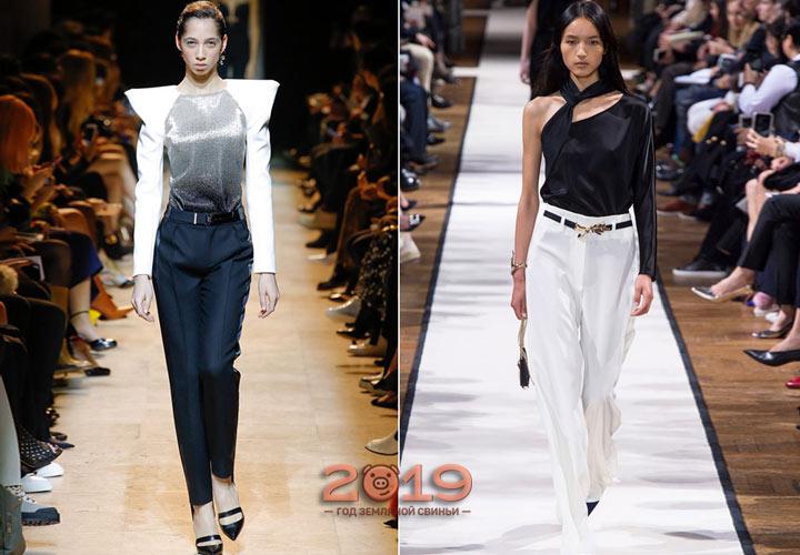 Модные модели брюк от известных дизайнеров 2018-2019 года