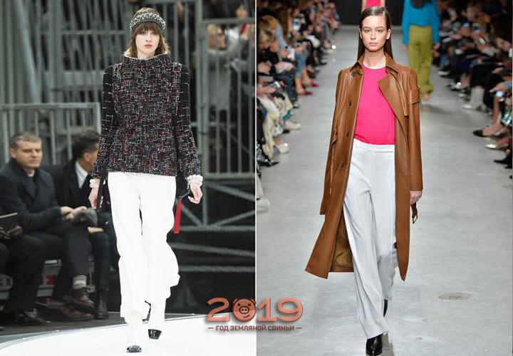 Модные белые брюки осень-зима 2018-2019