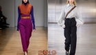Fashionable colored pants fall-winter 2018-2019